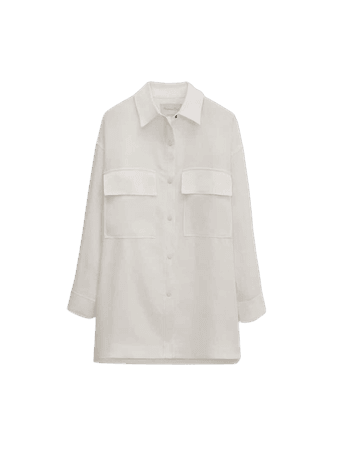 Overshirt with patch pockets - Limited Edition - Women - Massimo Dutti