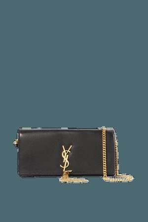Kate Leather Shoulder Bag - Black