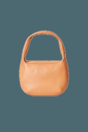 LEATHER MINI SHOULDER BAG - Light orange - Bags - COS GB