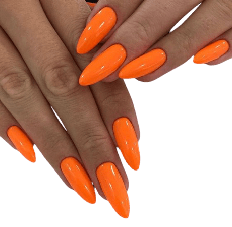 neon orange 🍊 nails