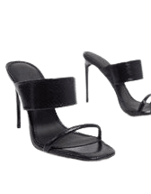 Simmi London True clear mules in black | ASOS