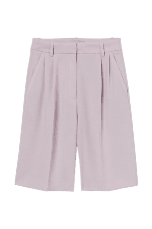 Dressy Bermuda Shorts - Light purple - Ladies | H&M US