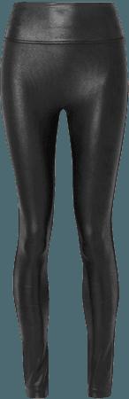 spanx black leather leggings