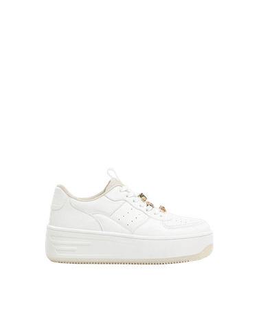 Bejeweled platform sneakers - New - Woman   Bershka