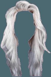 White Platinum Hair PNG |