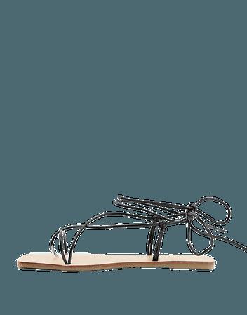 ASOS DESIGN Fresh strappy sandals in black   ASOS