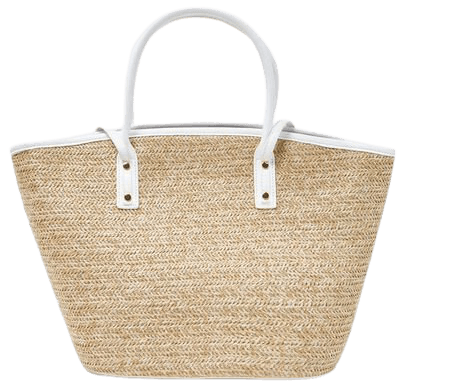 Basketwoven Tote Bag