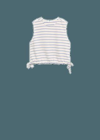 Striped cotton t-shirt - Women | Mango USA