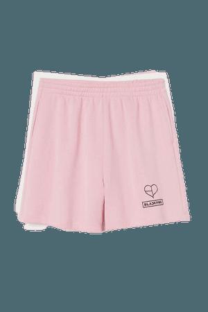 Printed-motif Crop Top - Light pink/Blackpink - Ladies   H&M US