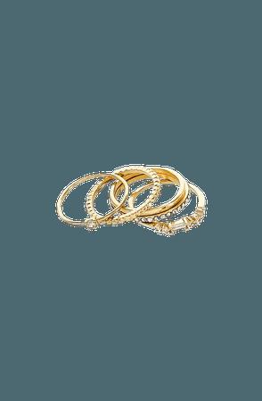 Panacea Set of 5 Crystal Stacking Rings | Nordstrom