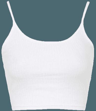 cropped white tank top