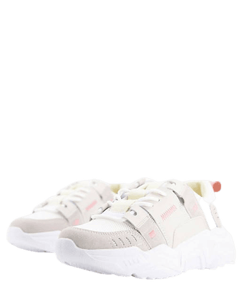 Topshop Cleo tech chunky sneakers in natural | ASOS