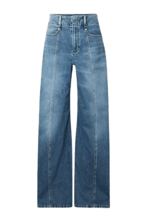 High-rise Wide-leg Jeans - Blue