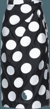 Carolina Herrera, Polka-Dot Midi Skirt