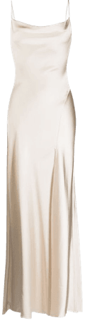 Shop Jonathan Simkhai Finley cocktail satin gown with Express Delivery - FARFETCH