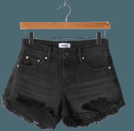 Pistola Gigi Shorts - Washed Black Denim Shorts - Low-Rise Shorts - Lulus