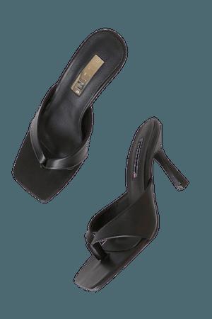 Billini Salene Black - High Heel Sandals - Thong Sandals - Lulus