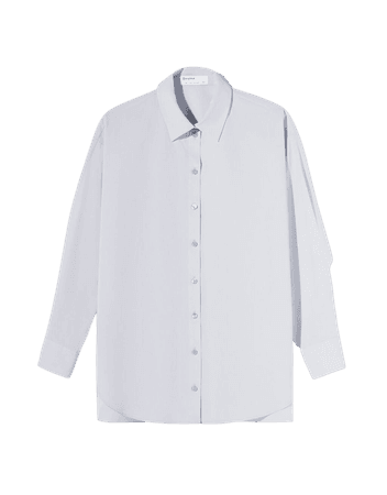 Oversize poplin shirt - Shirts and blouses - Woman | Bershka