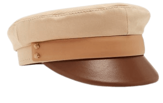 Tri-Colored Leather Baker Boy Cap By Ruslan Baginskiy Hats | Moda Operandi