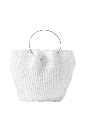 White Flat Circle crocheted cotton tote | The Row | NET-A-PORTER
