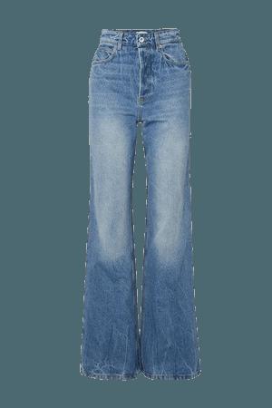 High-rise Straight-leg Denim Jeans - Blue