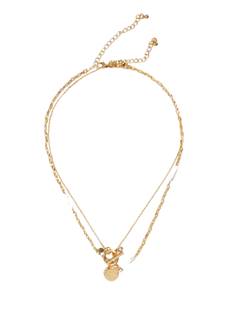 Chain necklace set - Plus sizes   Violeta by Mango Slovakia
