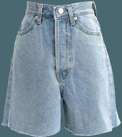 Phoebe Frayed Hem Denim Shorts | Women's Shorts | storets