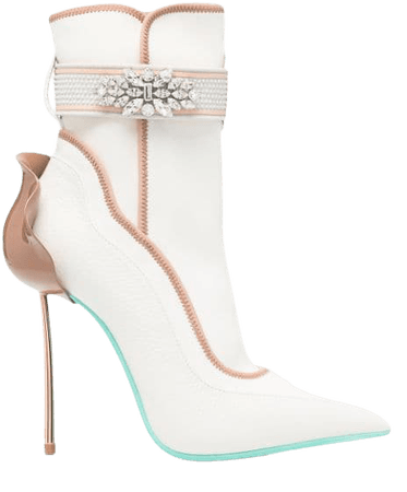 Shop Le Silla crystal-embellished ankle boots with Express Delivery - FARFETCH