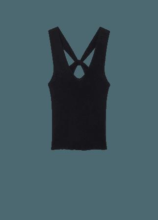 Ribbed knit top - Women | Mango USA