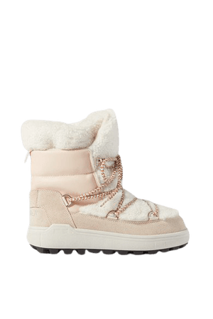 Chamonix 3 Suede, Leather And Shearling Snow Boots - Off-white