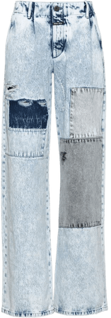Shop blue Miu Miu bleached straight leg jeans with Express Delivery - Farfetch