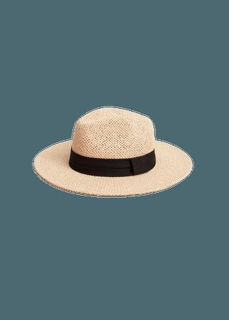 Ribbon straw hat - Women | Mango USA