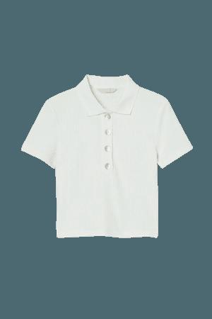 Crop Top - White - Ladies   H&M US