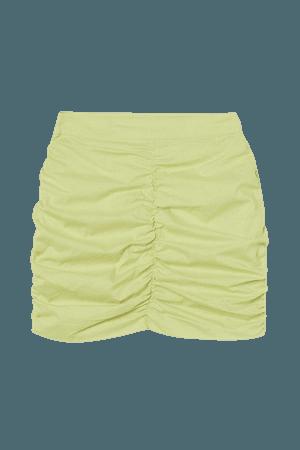 Draped Skirt - Light yellowish green - Ladies | H&M US