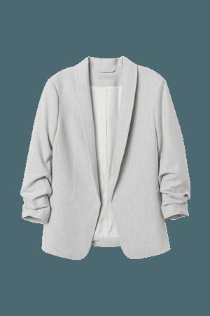 Shawl-collar Jacket - Gray
