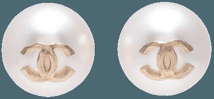 CHANEL- Pearl Stud Earrings