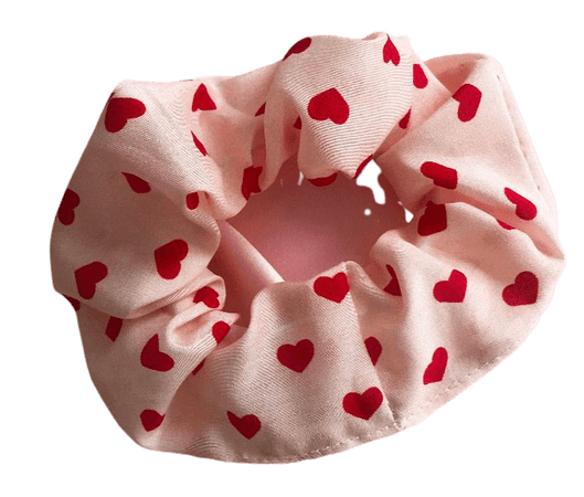 Red heart Scrunchie  from Etsy