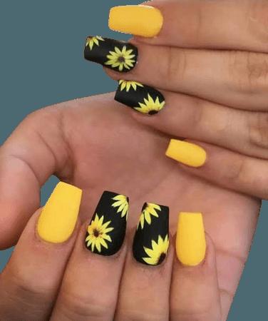 sunflower manicure - Google Search