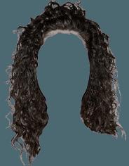 Dark Brown Curly/Kinky Hair