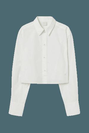 Cropped Cotton Shirt - White