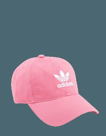 adidas Originals small logo adjustable cap in hazy rose   ASOS