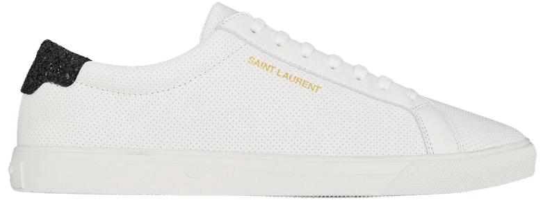 Saint Laurent ANDY Sneakers In Perforated Leather And Crystal Glitter | YSL.com