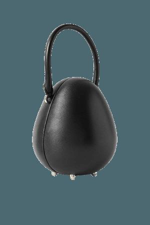 Egg Mini Leather Tote - Black