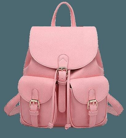 Amazon.com: Leather Backpack, Jonon Women's Leather Backpack , PU Leather Backpack for Women, Soft & Fashion Leather Lovely Backpack Cute School bag Shoulder Bag for Girls (Pink): Shoes
