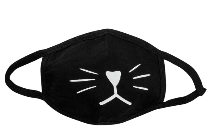Cat Fashion Face Mask - BLKWH - COA1089   Tillys