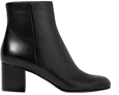 Margaux 60 Leather Ankle Boots - Black