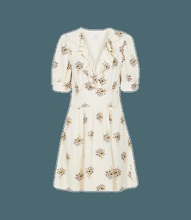 Olive Ivory Floral Printed Mini Dress – REISS