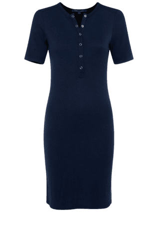 Paze Ribbed Jersey Dress | New Arrivals | French Connection Usa