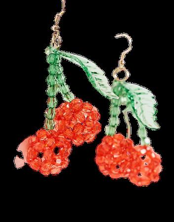 ASOS DESIGN earrings with beaded cherry drop   ASOS