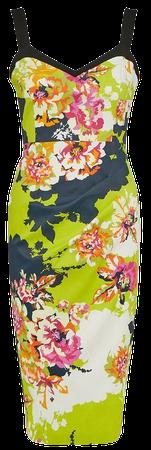 Italian Signature Stretch Neon Floral Dress   Karen Millen